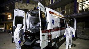 کارکنان وسایل نقلیه در زمان انتقال بیماران و اجساد کرونایی
