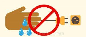 خطر برق گرفتگی در خانه تکانی
