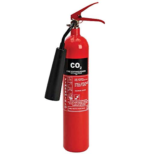 کپسول آتش نشانی حاوی گاز CO2 (کربن دی اکسید)