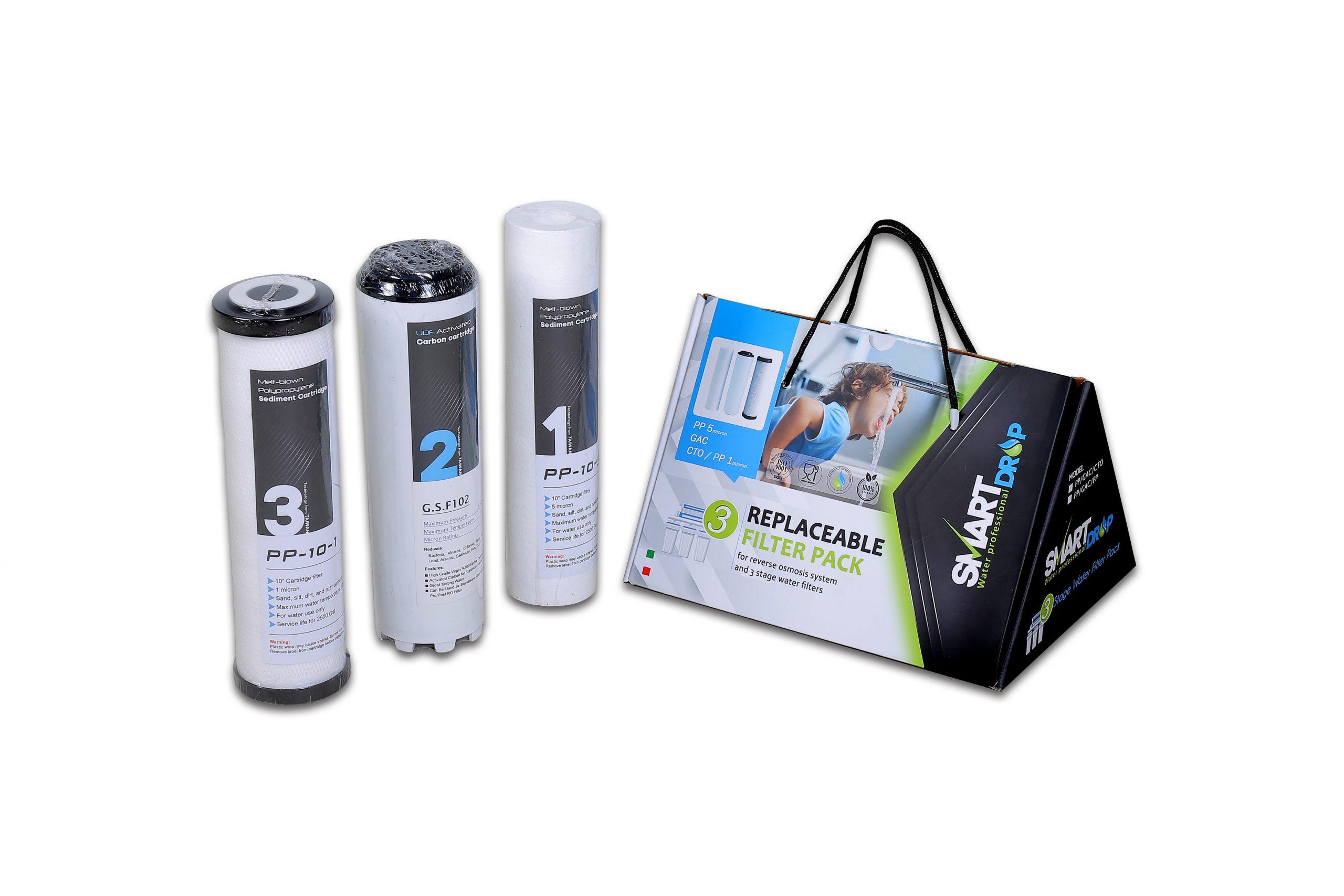 مجموعه سه عددی فیلتر دستگاه تصفیه آب